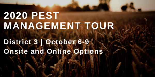 The 2020 Pest Management Tour is a last chance opportunity for applicators in District 3 to obtain credits.