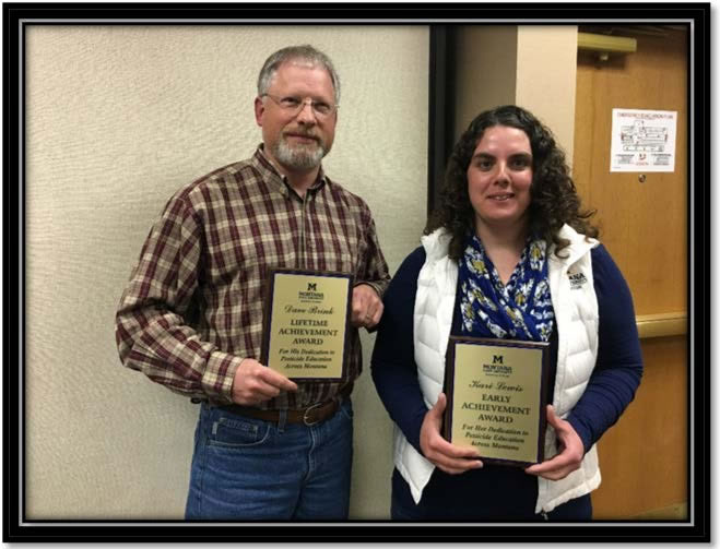 Figure 2: Photo of Dave Brink and Kari Lewis with their Program Achievement awards.