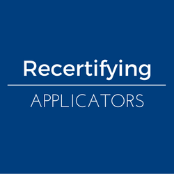 Information for recertifying private applicators