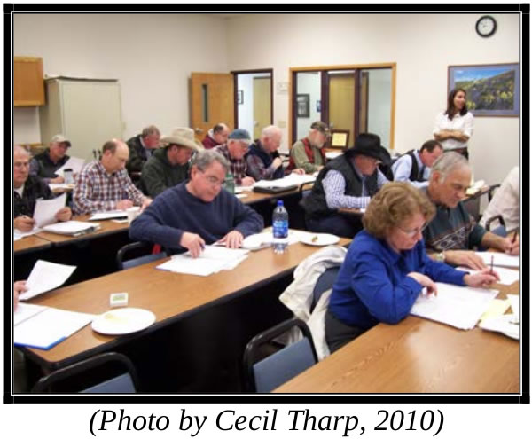 Adults in a classroom, photo by Cecil Tharp, 2010